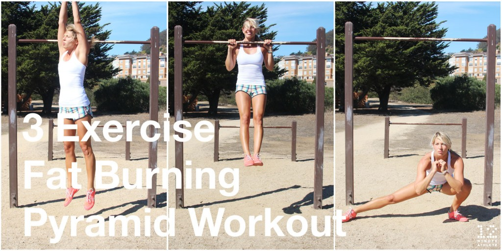 3 exercise fat burning pyramid hiit workout